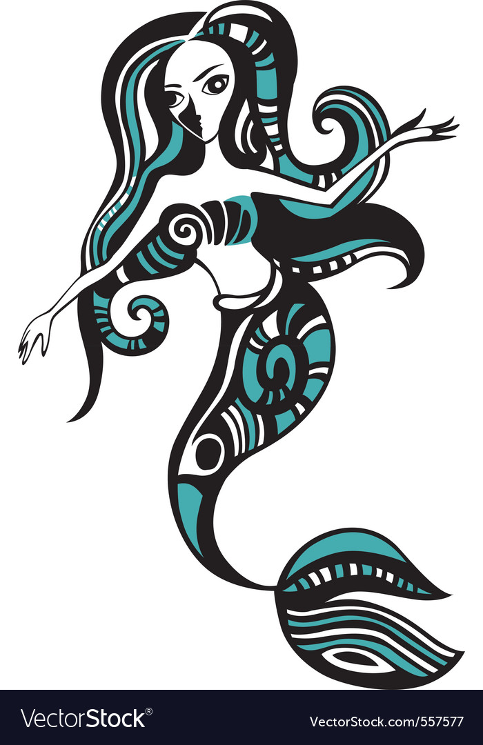 Mermaid vector | Price: 1 Credit (USD $1)