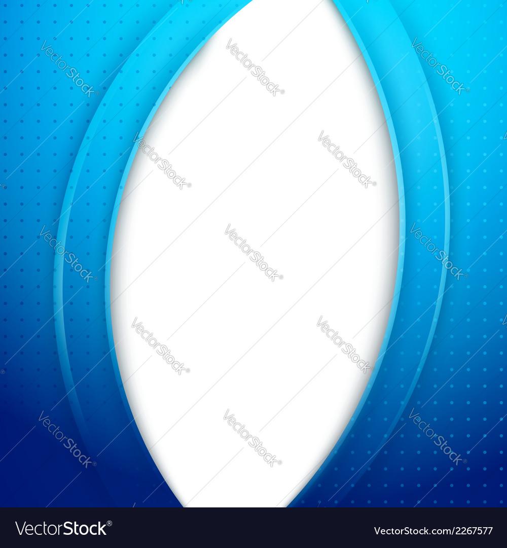 Modern blue folder background template - waves vector | Price: 1 Credit (USD $1)
