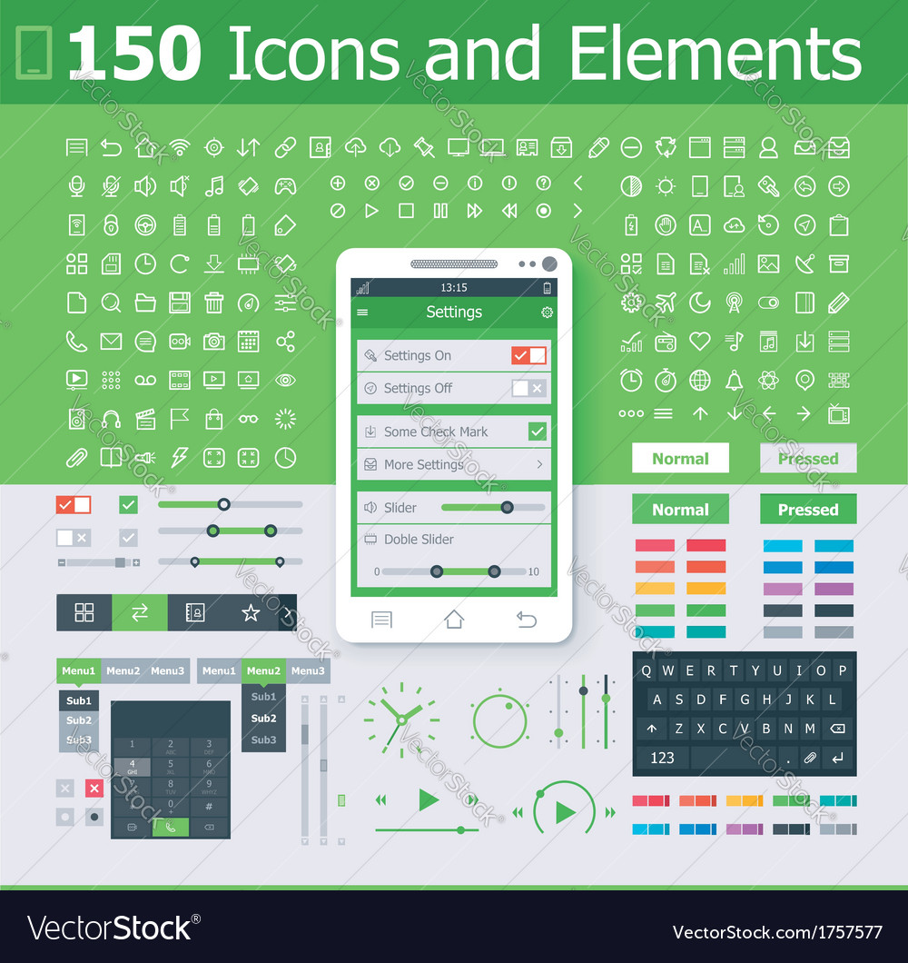 Operating system interface elements vector | Price: 1 Credit (USD $1)