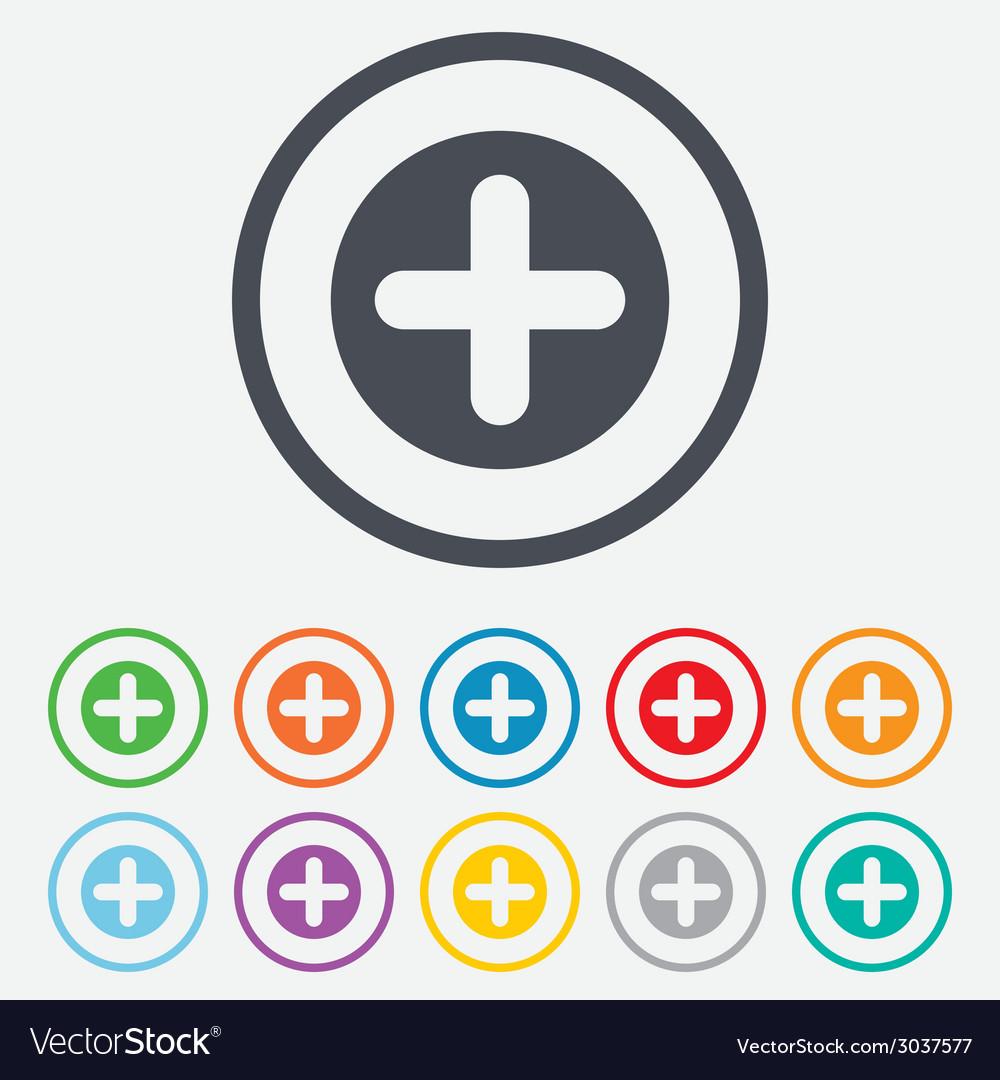 Plus sign icon positive symbol vector | Price: 1 Credit (USD $1)