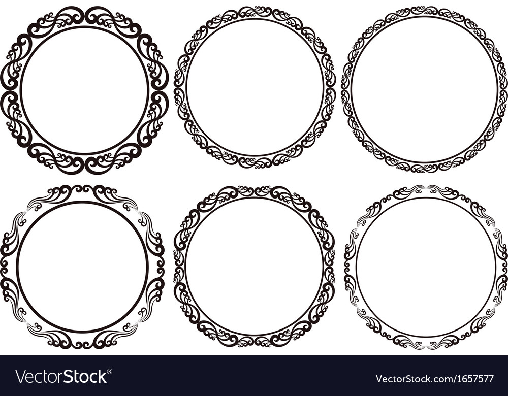 Round frames vector | Price: 1 Credit (USD $1)