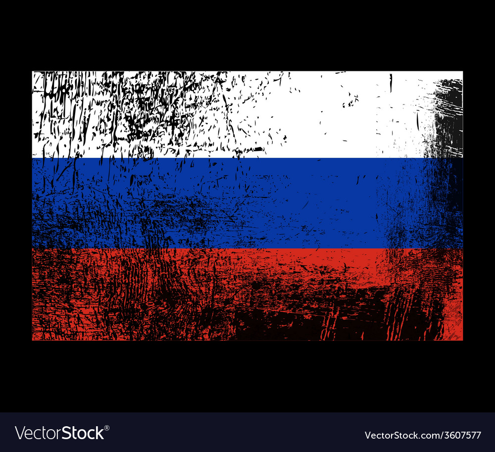 Russia grunge flag vector | Price: 1 Credit (USD $1)