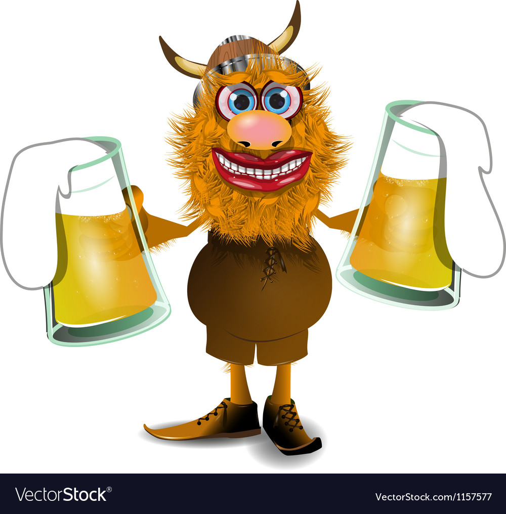 Viking with beer vector | Price: 1 Credit (USD $1)