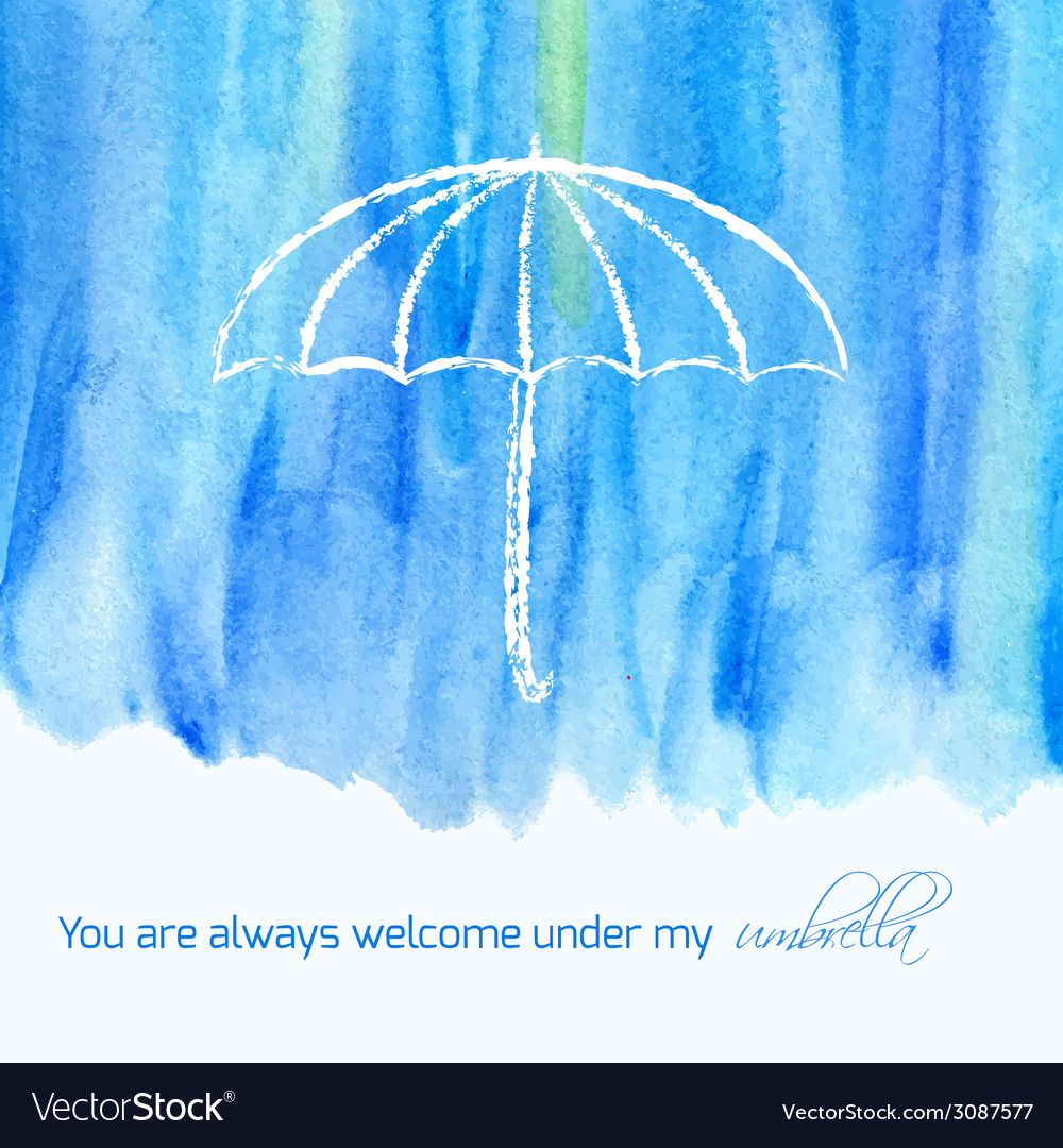Watercolor card with text vector | Price: 1 Credit (USD $1)