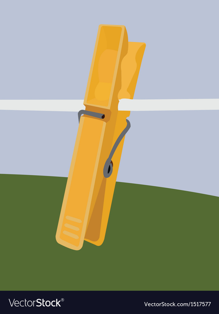 Yellow clothespin vector | Price: 1 Credit (USD $1)