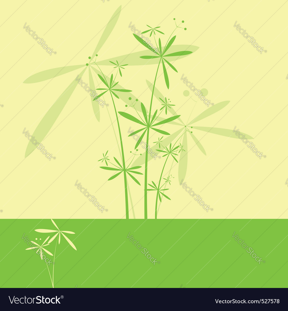 Abstract springtime flower greeting card vector   Price: 1 Credit (USD $1)