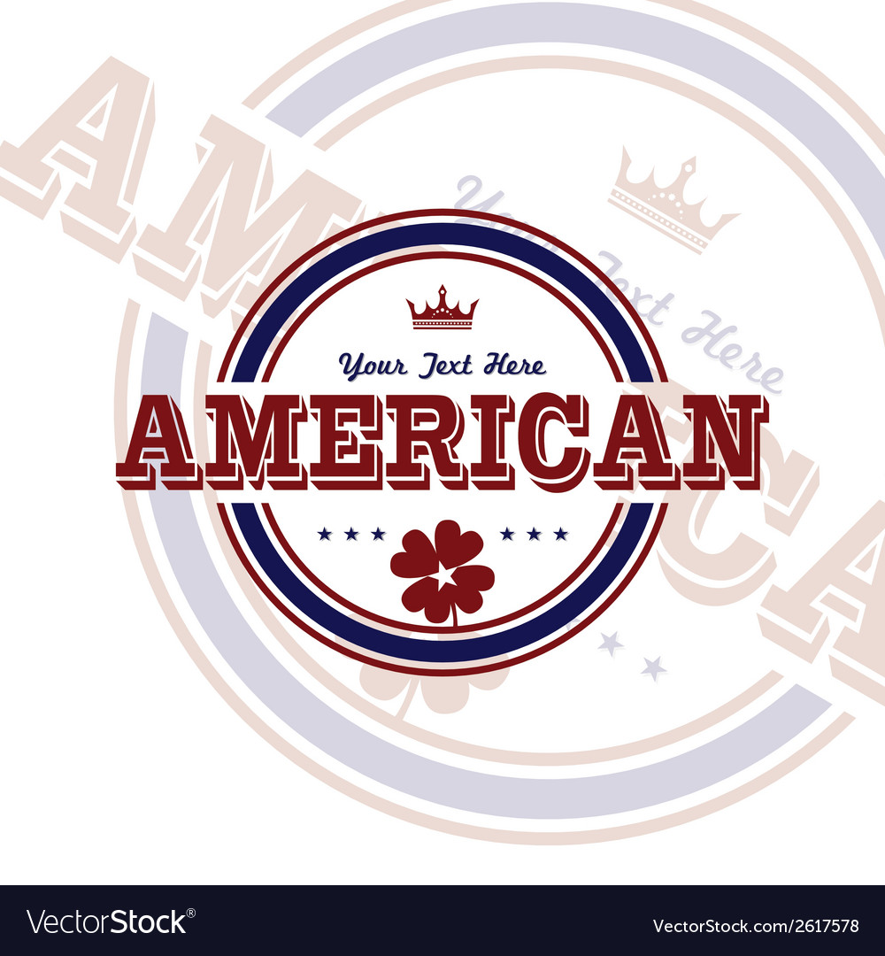 America label vector | Price: 1 Credit (USD $1)