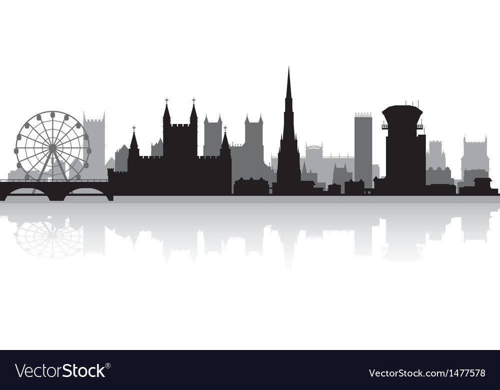 Bristol city skyline silhouette vector | Price: 1 Credit (USD $1)