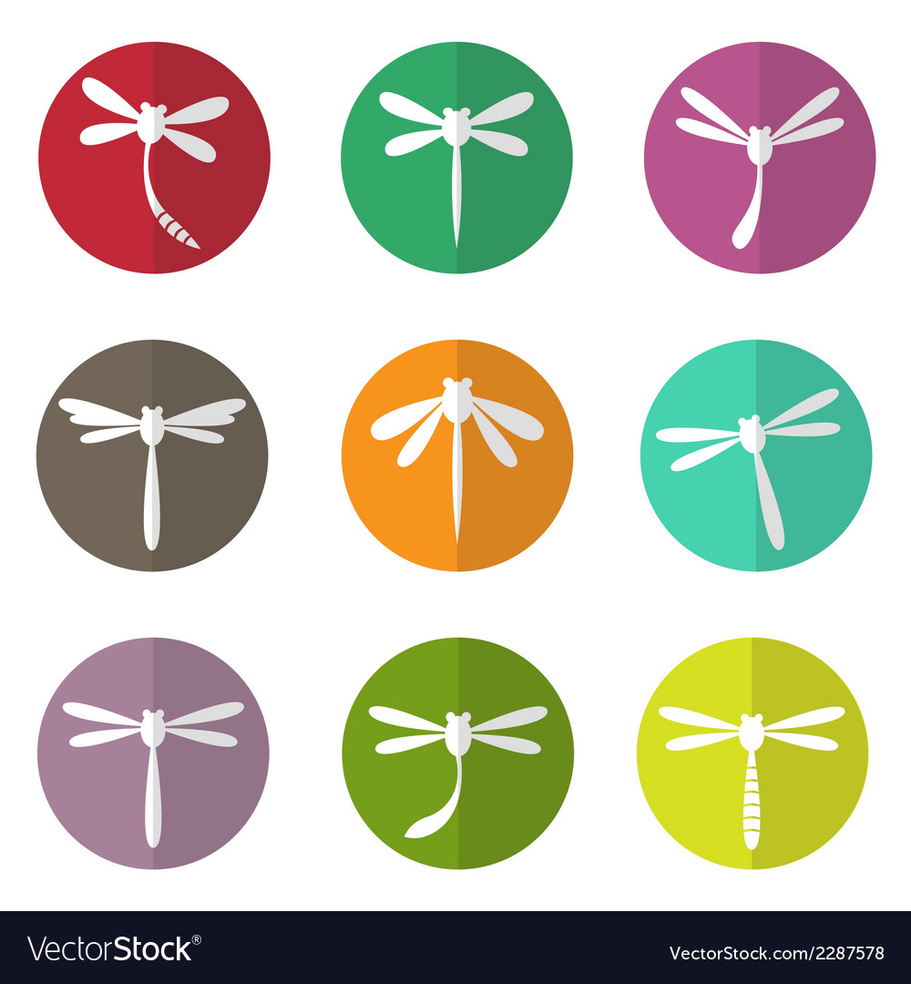Group of dragonfly in the circle vector | Price: 1 Credit (USD $1)