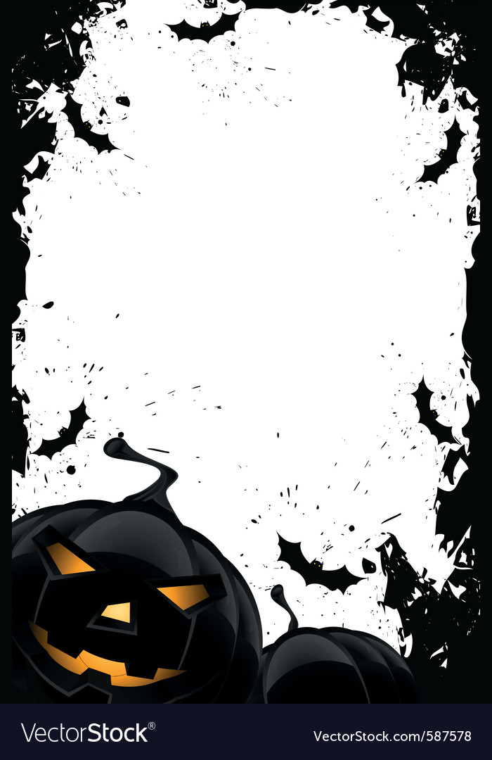 Grungy halloween frame vector | Price: 1 Credit (USD $1)