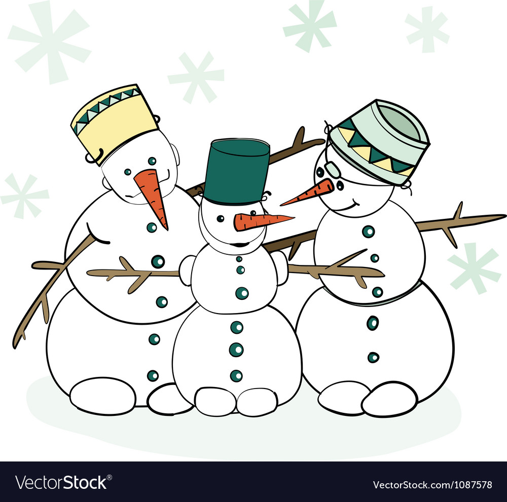 Humorous winter snowman vector | Price: 1 Credit (USD $1)