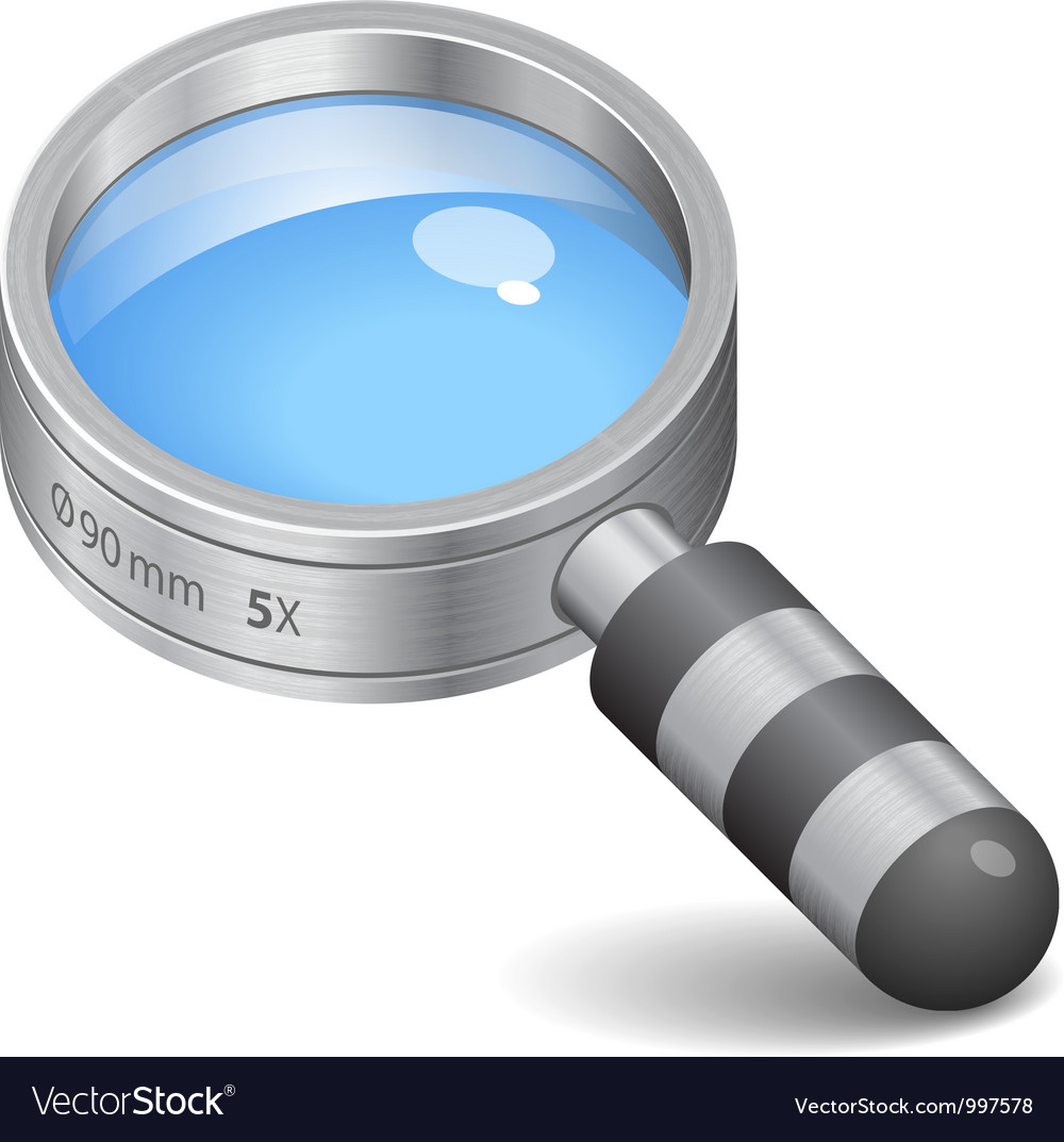 Icon for magnifying glass vector | Price: 3 Credit (USD $3)