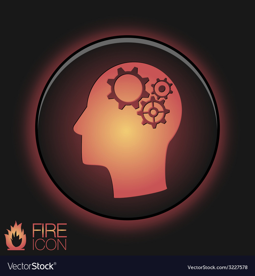 Icon head think silhoutte man and his mind about vector | Price: 1 Credit (USD $1)
