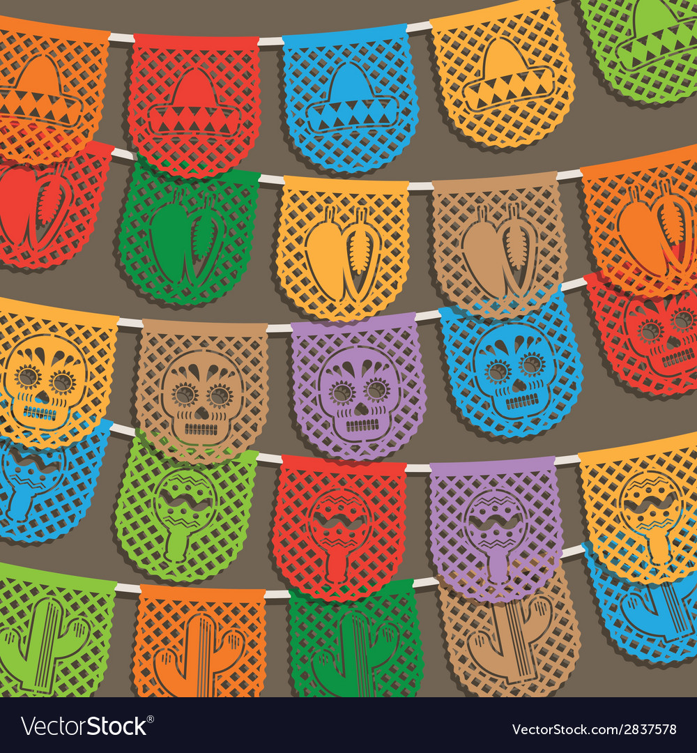 Mexican bunting decoration vector | Price: 1 Credit (USD $1)