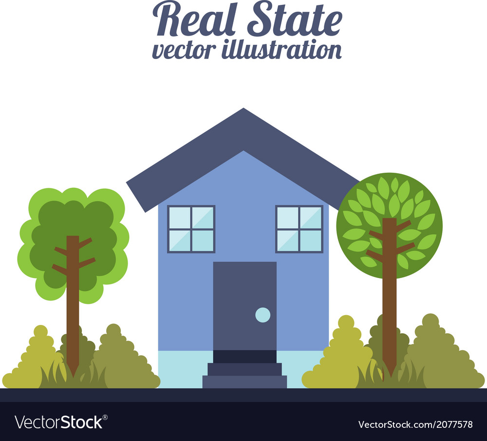 Real estate design over white background vector | Price: 1 Credit (USD $1)