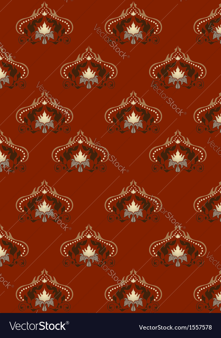 Red background with old classic pattern vector | Price: 1 Credit (USD $1)
