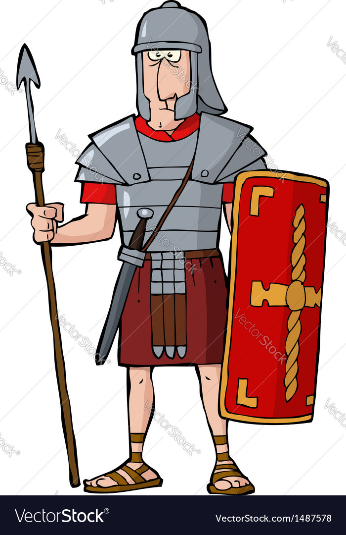 Roman legionary vector | Price: 1 Credit (USD $1)
