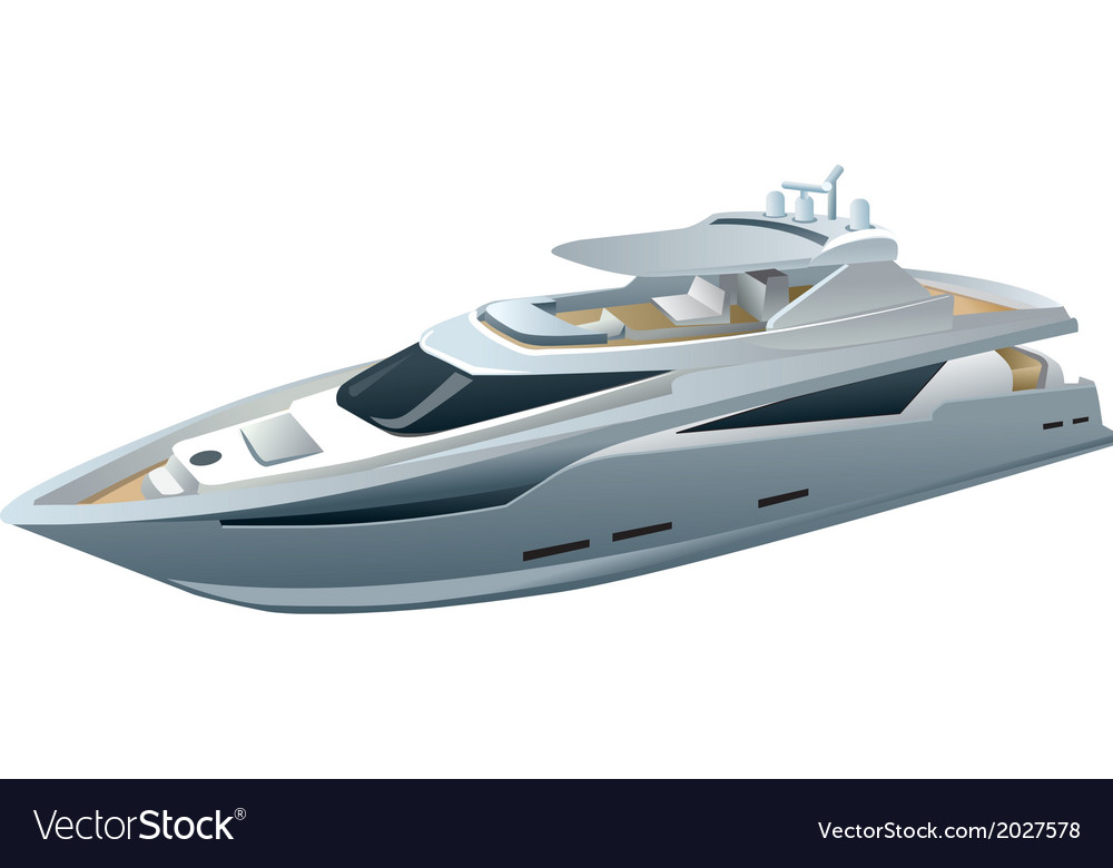 Speed yacht vector | Price: 1 Credit (USD $1)