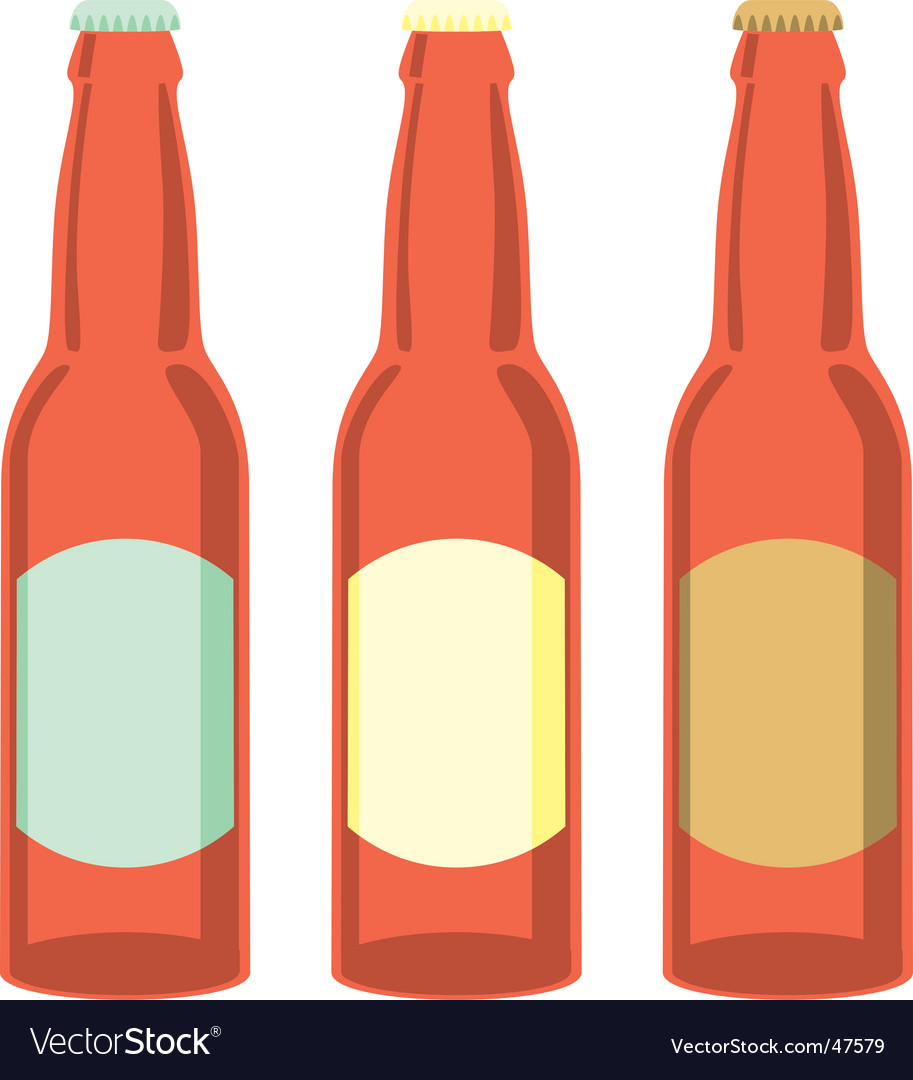 Beer bottles set vector | Price: 1 Credit (USD $1)
