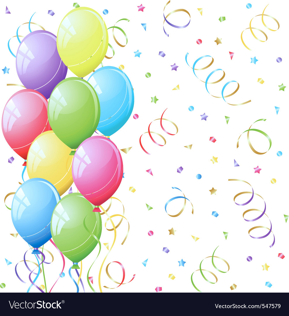 Bunch of colorful party balloo vector | Price: 1 Credit (USD $1)