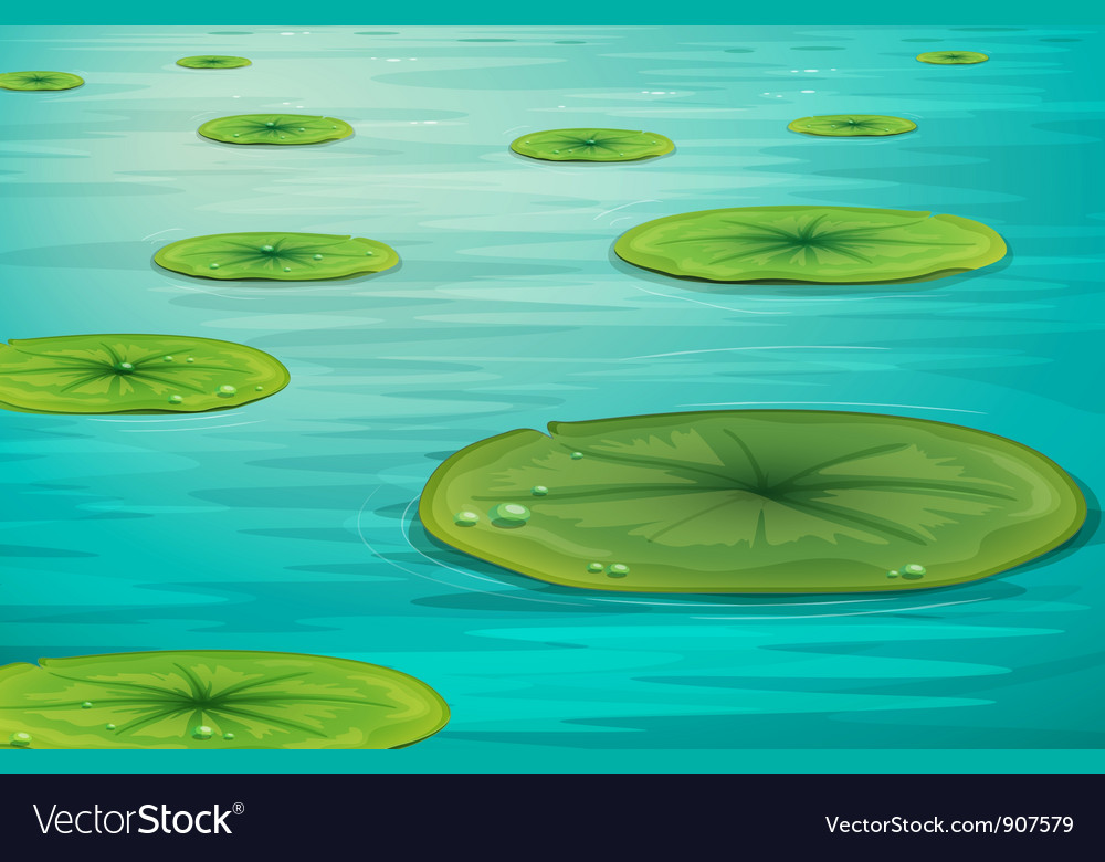Calm pond scene vector | Price: 3 Credit (USD $3)