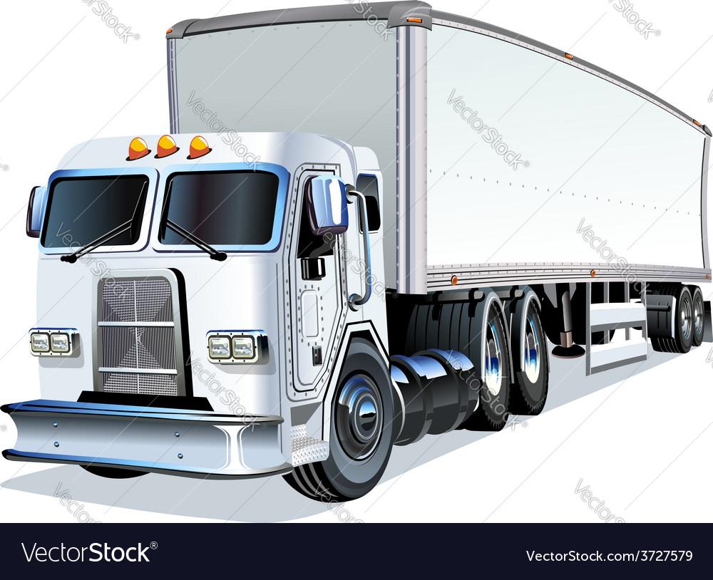 Cartoon semi truck vector | Price: 3 Credit (USD $3)