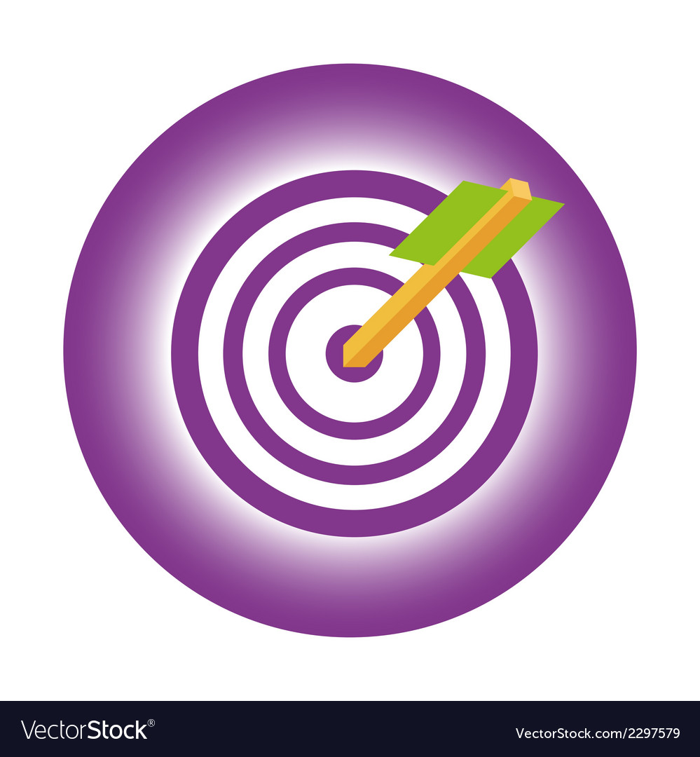 Design target to goal and focus arrow vector | Price: 1 Credit (USD $1)