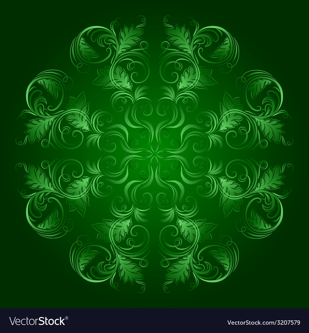 Floral pattern with damask ornament vector | Price: 1 Credit (USD $1)