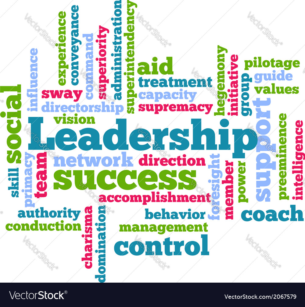 Leadership word tag cloud beckground vector | Price: 1 Credit (USD $1)