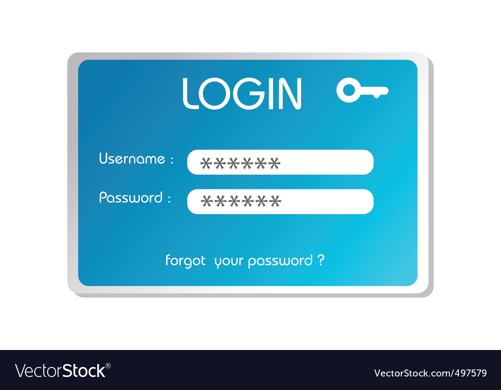 Login box vector | Price: 1 Credit (USD $1)