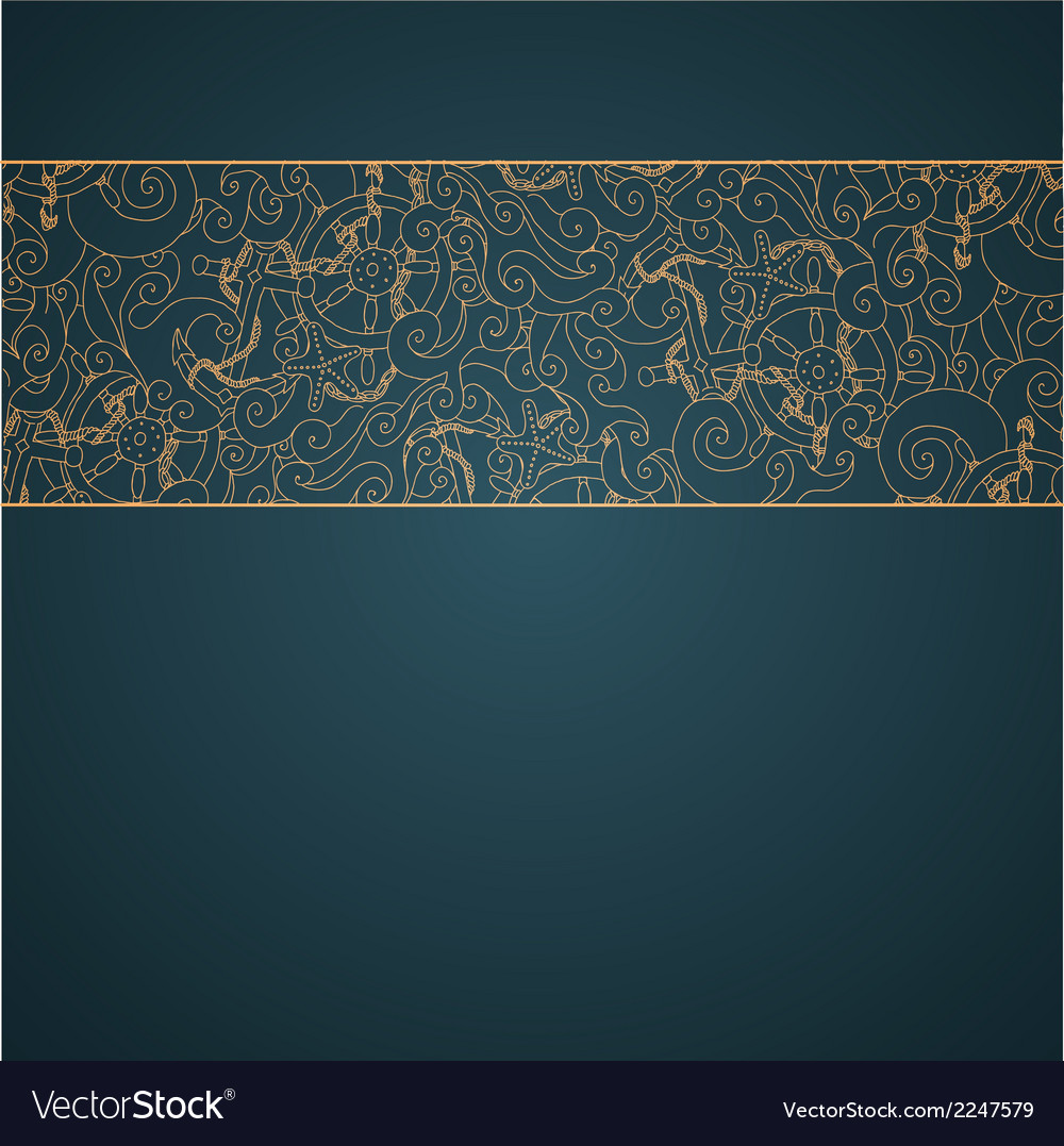 Nautical background ribbon vector | Price: 1 Credit (USD $1)