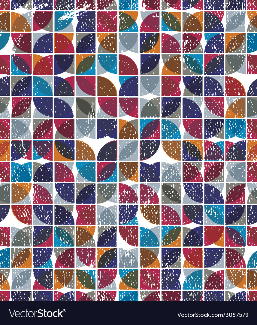 Old scratched and spotted mosaic seamless vector | Price: 1 Credit (USD $1)