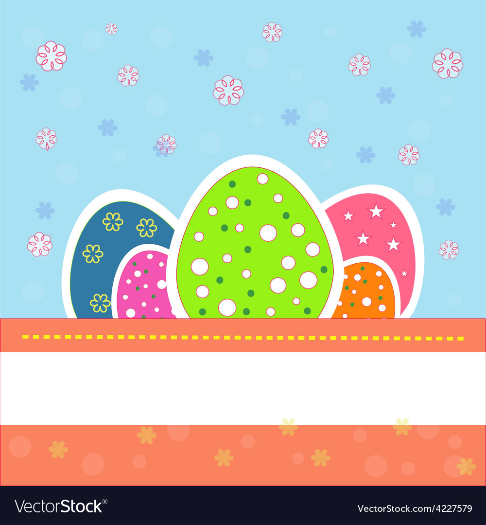 Pretty and nice easter eggs vector | Price: 1 Credit (USD $1)