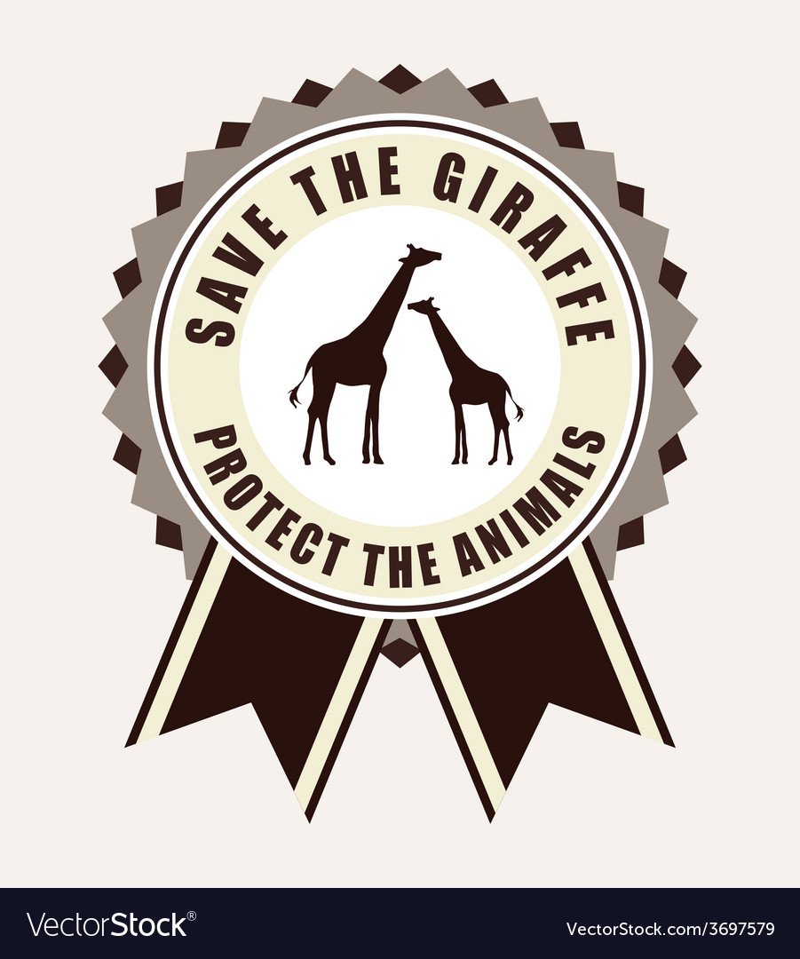 Save the animals design vector