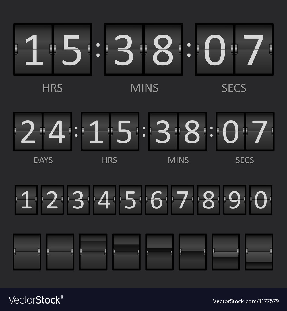 Scoreboard countdown timer vector | Price: 1 Credit (USD $1)