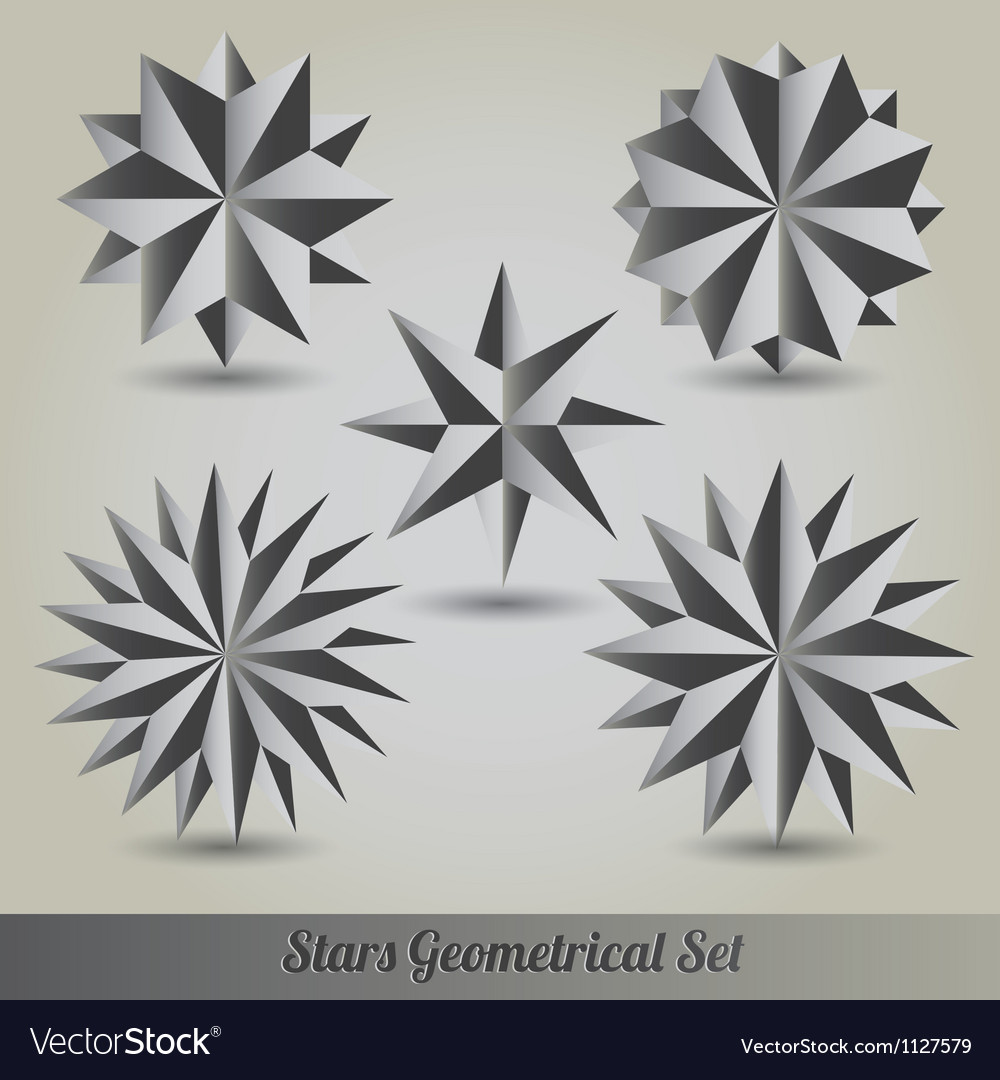 Set star polyhedron for graphic design vector | Price: 1 Credit (USD $1)