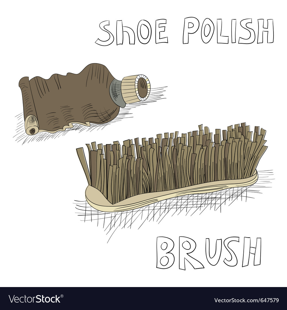 Shoe polish and brush vector | Price: 3 Credit (USD $3)
