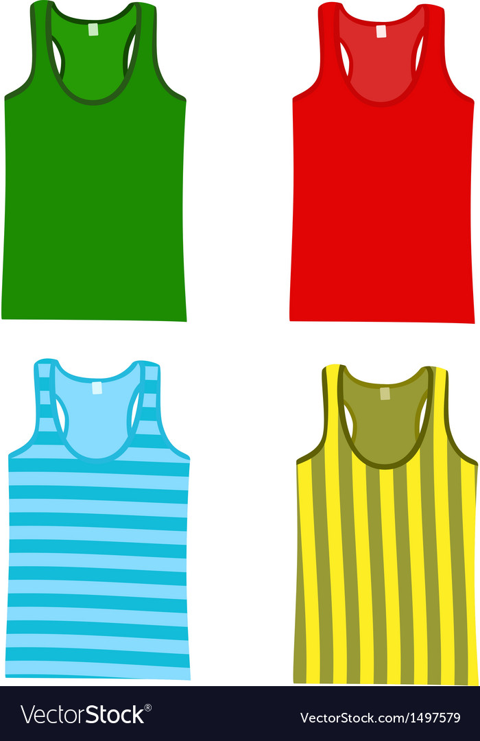 Sleeveless tops vector | Price: 1 Credit (USD $1)