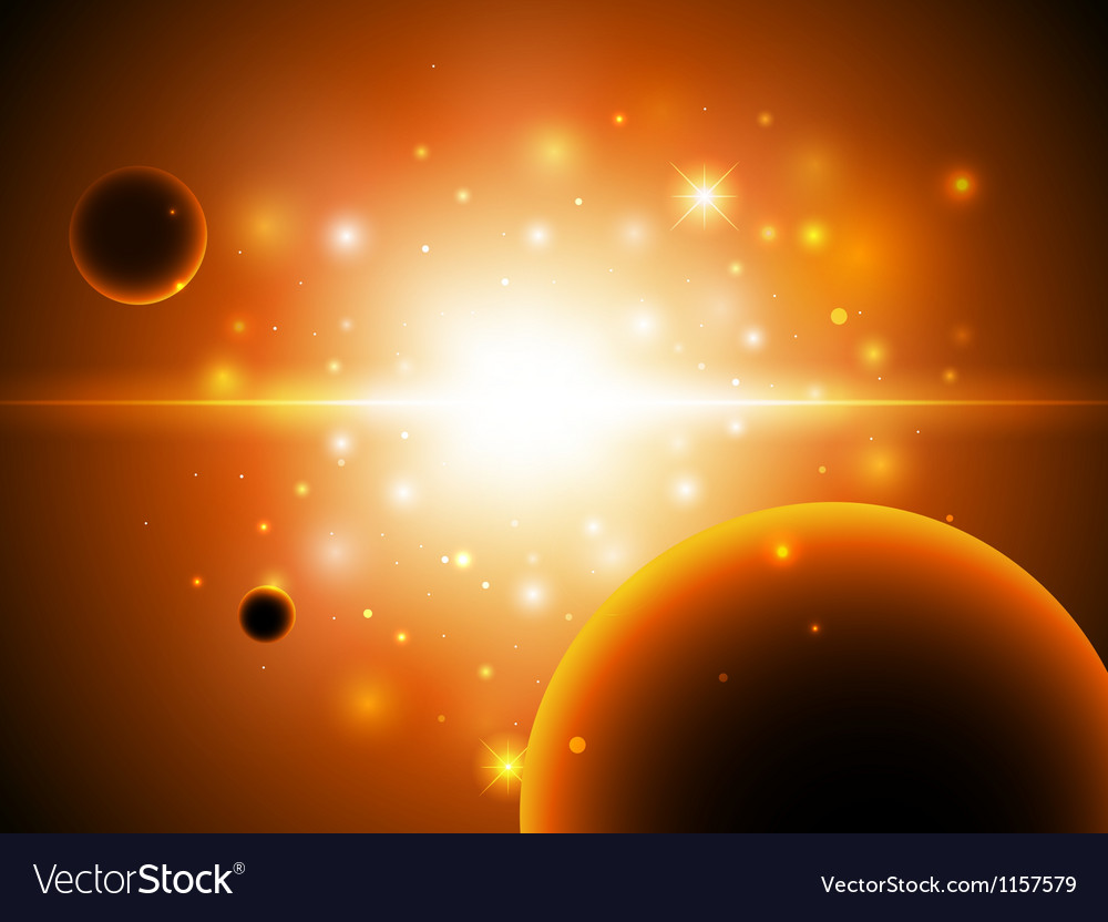 Space background with stars vector | Price: 1 Credit (USD $1)