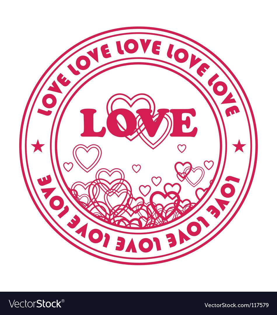 Valentine's emblem vector | Price: 1 Credit (USD $1)