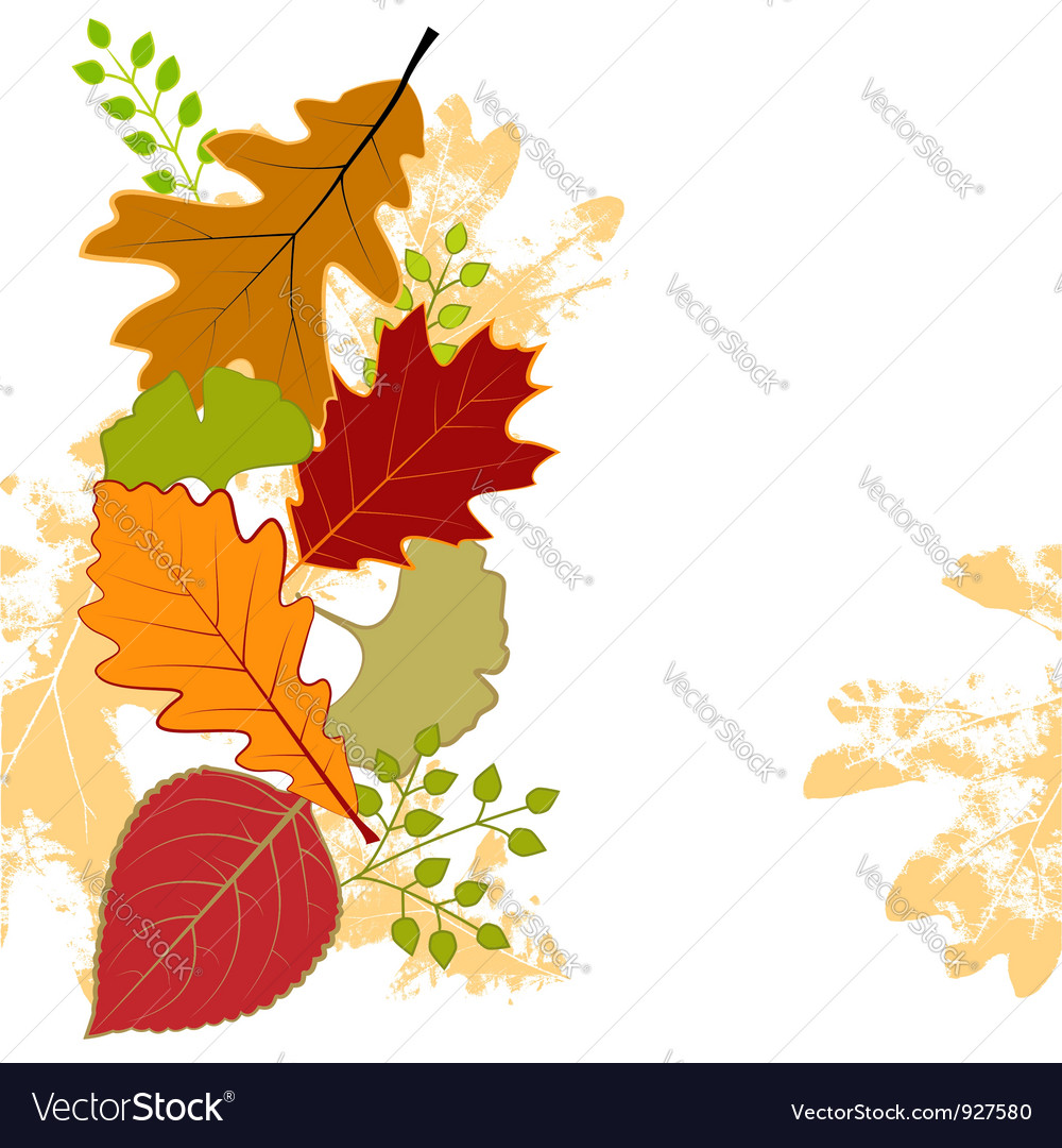 Abstract colorful autumn leaf vector | Price: 1 Credit (USD $1)