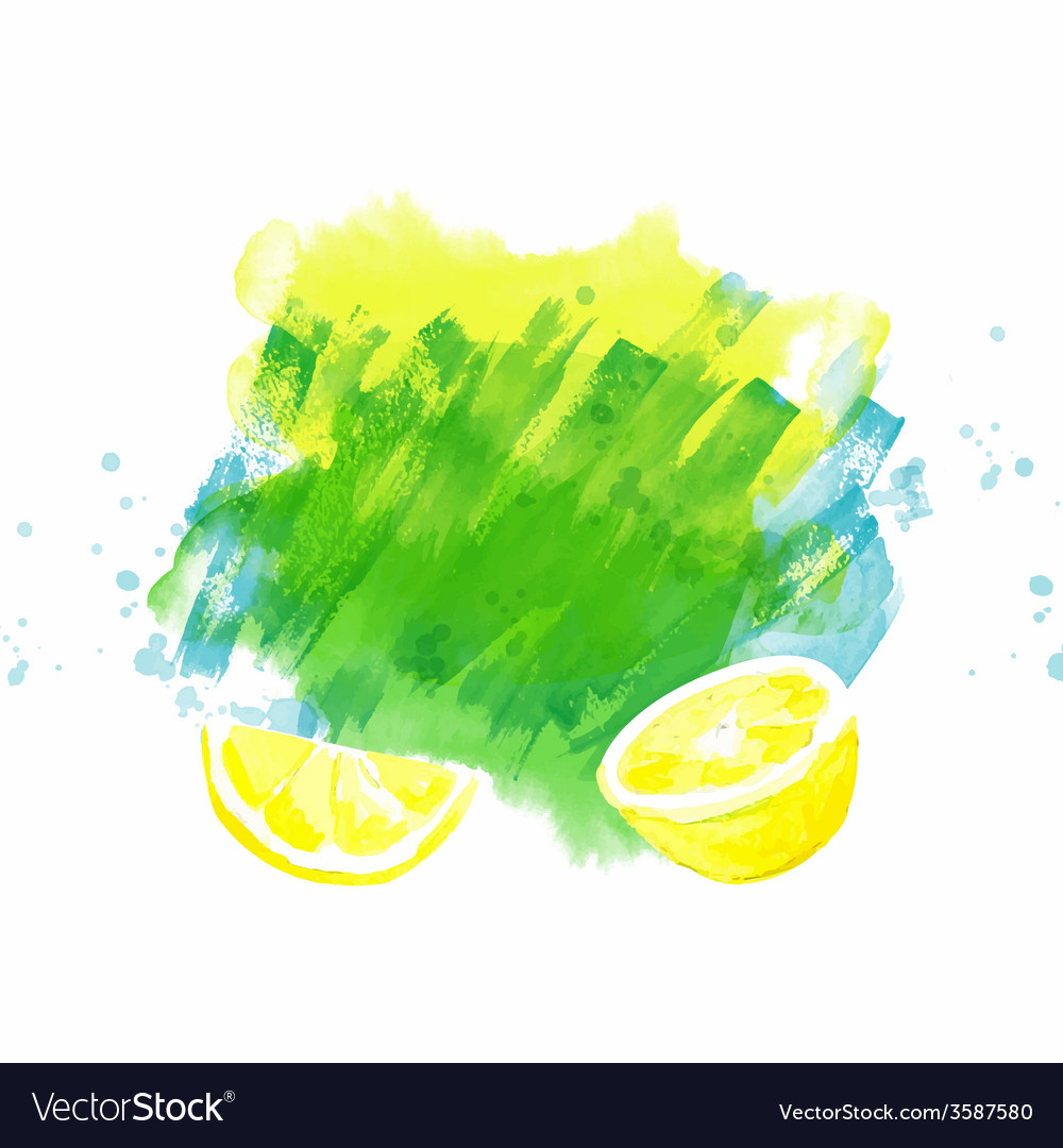 Background with lemon vector | Price: 1 Credit (USD $1)