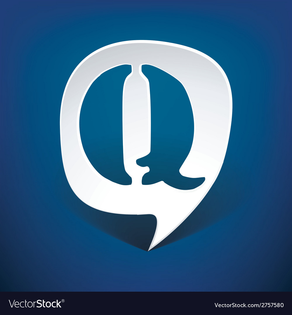 Bubble speech letter q vector | Price: 1 Credit (USD $1)