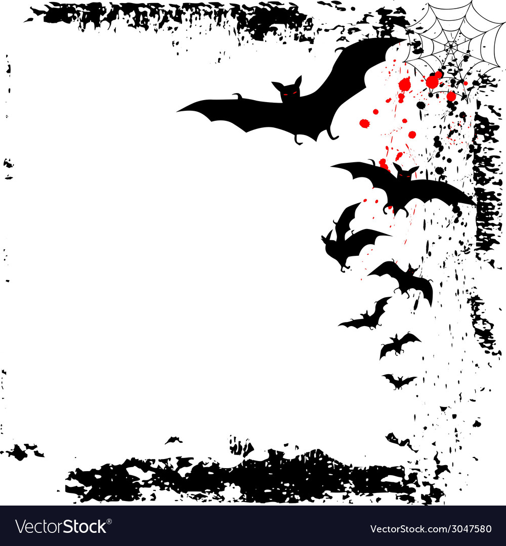 Halloween background with flying bats in full moon vector | Price: 1 Credit (USD $1)