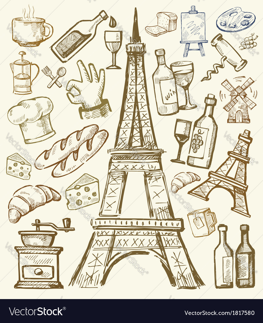 Hand drawn paris vector | Price: 1 Credit (USD $1)