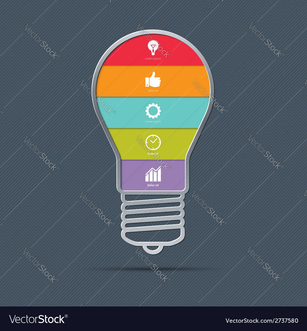 Light bulb infographics concept vector | Price: 1 Credit (USD $1)