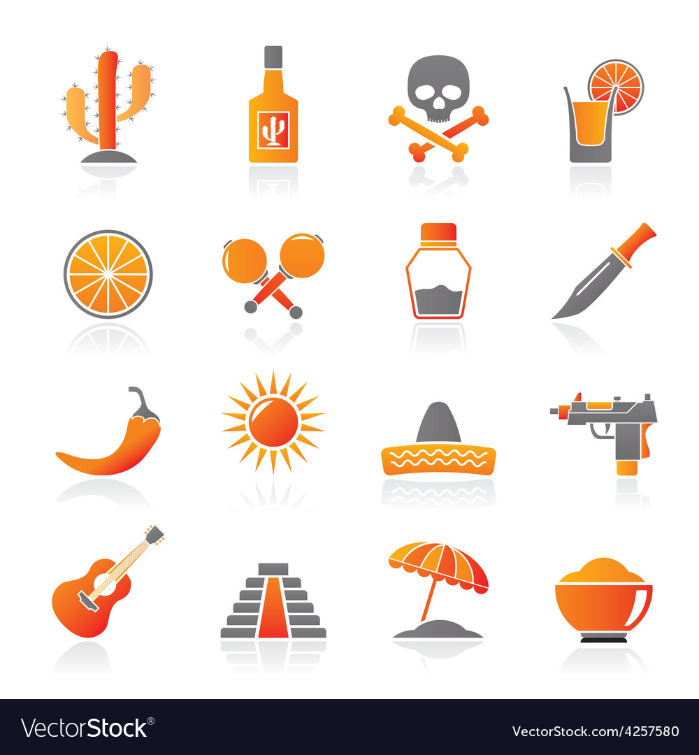 Mexico and mexican culture icons vector | Price: 1 Credit (USD $1)