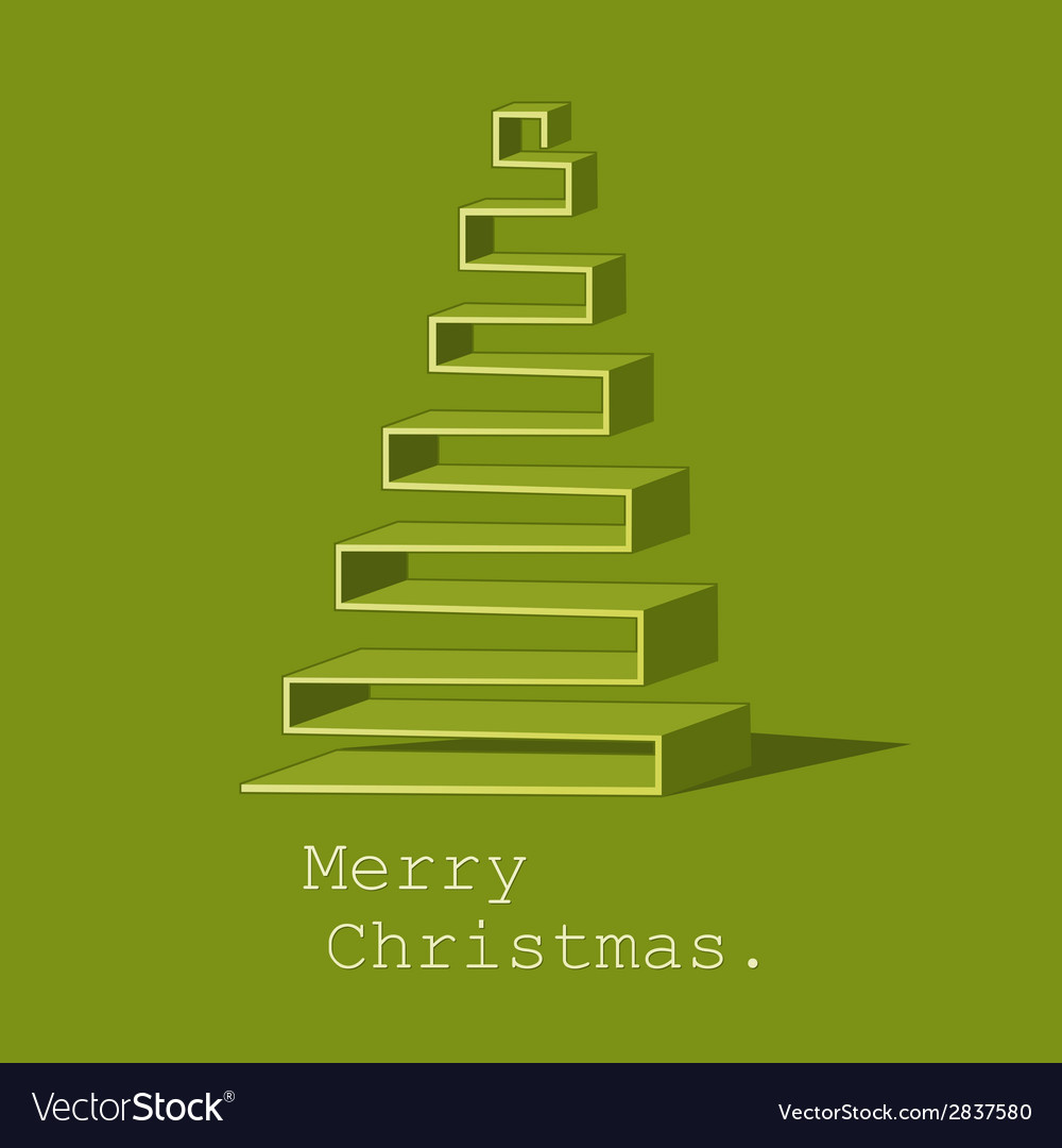 Modern abstract christmas tree background vector   Price: 1 Credit (USD $1)