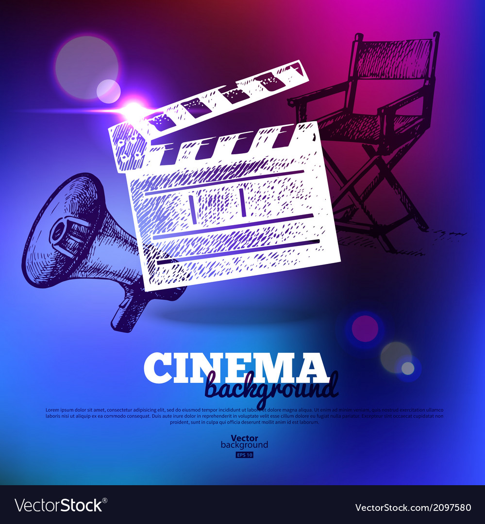 Movie cinema poster vector | Price: 1 Credit (USD $1)