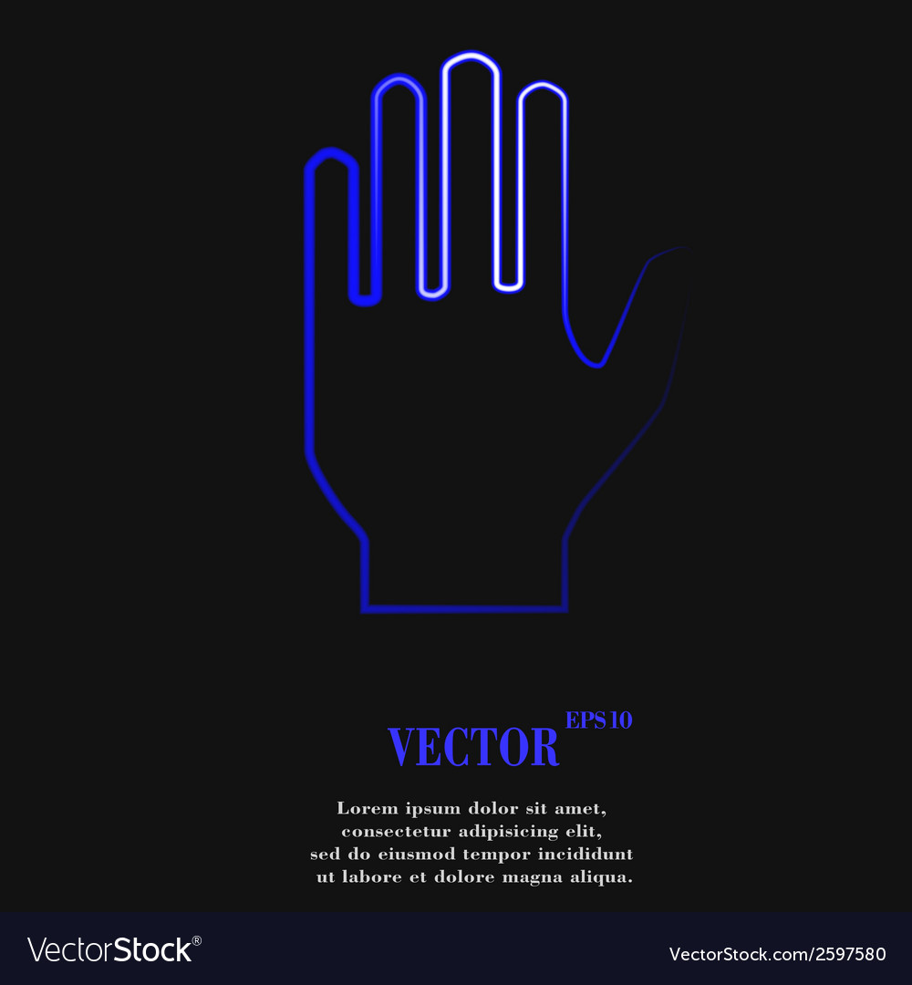 Stop hand flat modern web button and space for vector | Price: 1 Credit (USD $1)